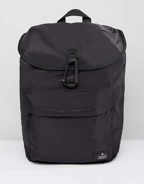 Asos Backpack In Black With Carabiner Fastening