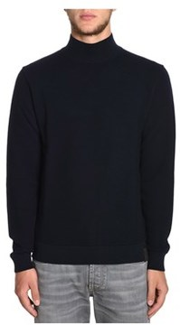 Altea Men's Blue Wool Sweater.