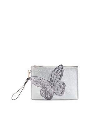 Sophia Webster Flossy Glitter Butterfly Pochette Clutch Bag