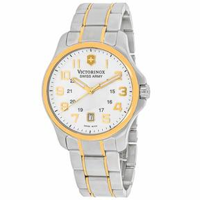 Victorinox Officers Gent 241362 Men's Two-Tone Stainless Steel Watch