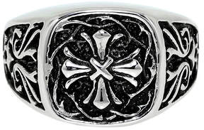 JCPenney FINE JEWELRY Mens Two-Tone Stainless Steel Cross Ring
