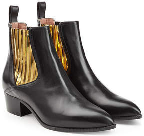L'Autre Chose Leather Chelsea Boots with Metallic Insets