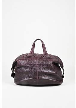Givenchy Pre-owned Purple Pebbled Calf Leather medium Nightingale Satchel Bag.