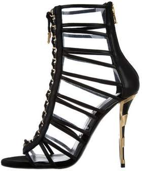 Balmain PVC Lace-Up Sandals