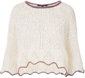 Derek Lam Pointelle Knit Cropped Pullover