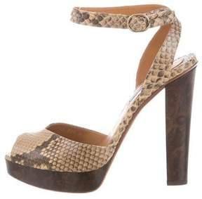 Ralph Lauren Purple Label Python Platform Sandals