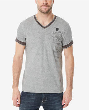 Buffalo David Bitton Men's Kuril Contrast hem V-Neck T-Shirt