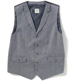 Murano Solid Linen Vest