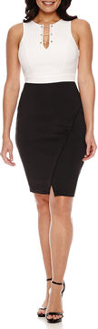 Bisou Bisou Sleeveless Embellished Sheath Dress