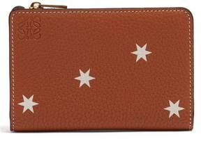 Loewe Star-print bi-fold leather cardholder