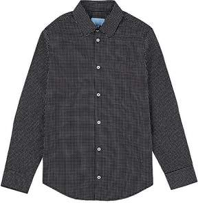 Lanvin KIDS' GEOMETRIC-PRINT COTTON POPLIN SHIRT