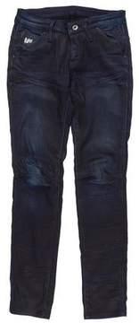 G Star Distressed Skinny Jeans
