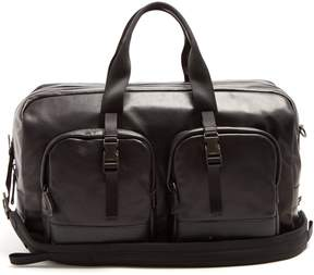 Prada Front-pocket large leather holdall