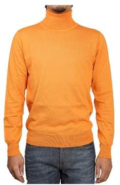 H953 Men's Orange Cotton Sweater.