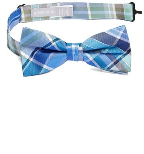 Nordstrom Boy's Plaid Silk Bow Tie