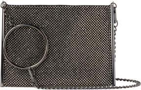 La Regale Gunmetal Crystal Mesh Circlet Handbag