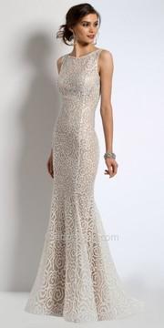 Camille La Vie Rhinestone Lace Evening Dress
