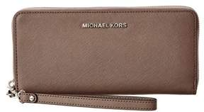 MICHAEL Michael Kors Jet Set Travel Leather Continental Wallet. - GREY - STYLE
