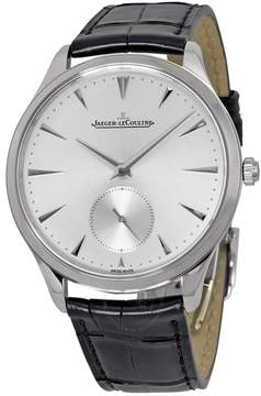 Jaeger-LeCoultre Jaeger Lecoultre Master Ultra Thin Silver Dial Black Leather Men's Watch