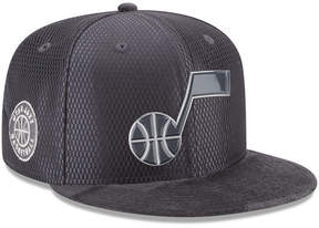 New Era Utah Jazz On-Court Graphite Collection 9FIFTY Snapback Cap