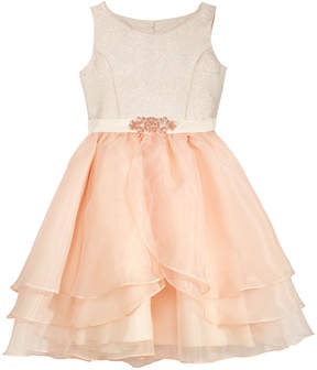 Blush by Us Angels Tiered Skirt Fit & Flare Dress, Big Girls (7-16)