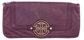 Tory Burch Leather Fold-Over Clutch