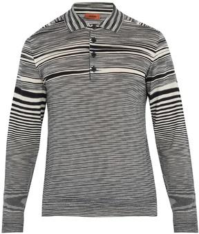 Missoni Striped-wool polo shirt