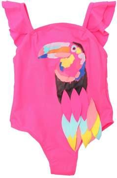 Billieblush Parrot Lycra One Piece Swimsuit