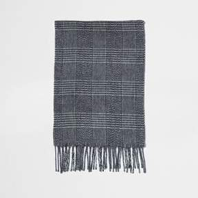 River Island Mens Grey check scarf