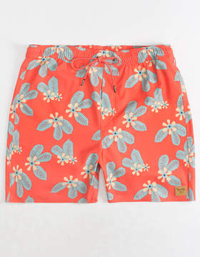 Brixton Palmas Coral Mens Swim Trunks