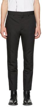 Haider Ackermann Black Linen Slim Trousers