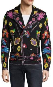 Moschino Graphic Patch Cotton Jacket