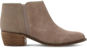Dune Penelope reptile-embossed suede ankle boots
