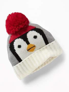Old Navy Penguin-Graphic Pom-Pom Beanie for Baby