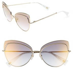 Marc Jacobs Women's 61Mm Butterfly Sunglasses - Gold