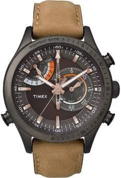 Timex TW2P72500 Intelligent Quartz Chrono Men's Watch 46mm Brown Leather