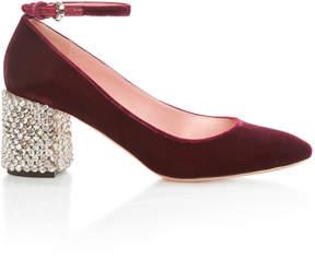 Rochas Mary Jane with Embellished Heel