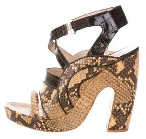 Dries Van Noten Embossed Multistrap Sandals