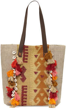 Ale by Alessandra Jaipur Linen Beach Tote Bag, Beige