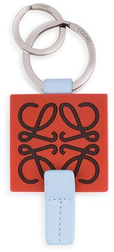 Loewe Anagram Rubber Keyring Red/Light Blue