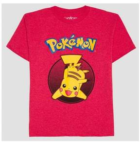 Pokemon Boys' Pikachu Short Sleeve T-Shirt Red
