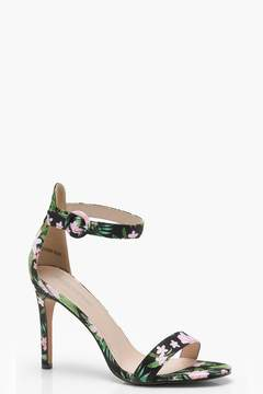 loral Printed Mid two Part Heels