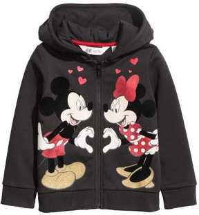 H&M Hooded Jacket with Appliqués