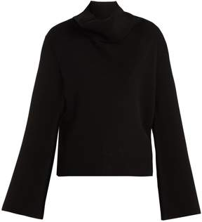 Chloé Iconic draped roll-neck cashmere sweater