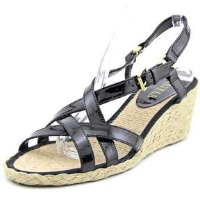Lauren Ralph Lauren Chrissy Women US 10 Black Wedge Sandal