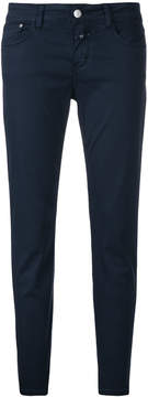Closed cropped skinny trousers