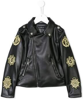 John Richmond Kids patch embellished jacket