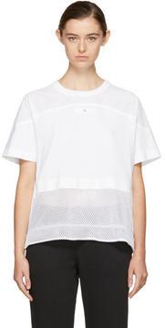 adidas by Stella McCartney White Essentials Mesh T-Shirt