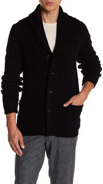 Jack Spade Shawl Collar Wool Cardigan