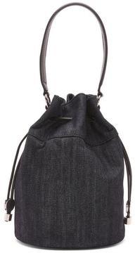 Women's DORINDA - Shiny Metallic Denim Bucket Bag